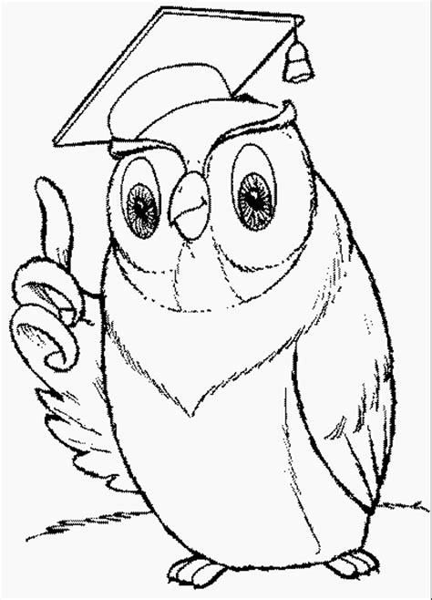 Wise Owl Coloring Page | free coloring pages of wise owl