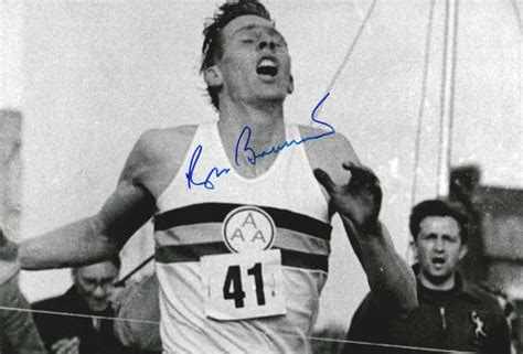 Roger Banister by Sir Roger Bannister Signed Four Minute Mile Memorabilia