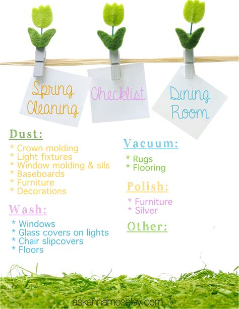 spring cleaners spring cleaning the dining room free checklist ask anna