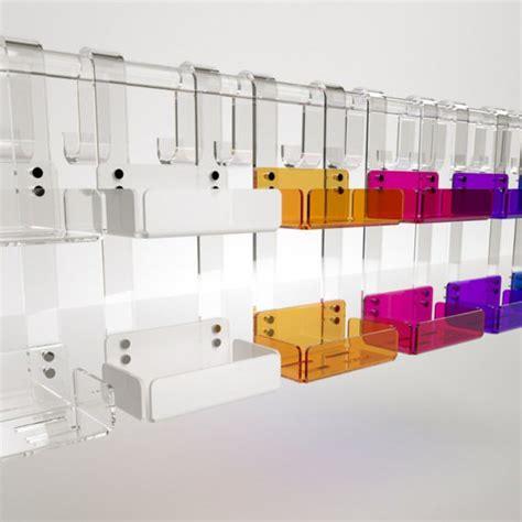 box doccia in plexiglass mensola doppia per box doccia in plexiglass colorato