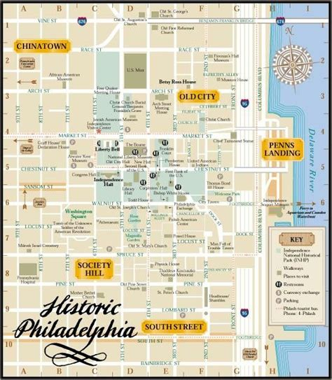 printable walking directions philadelphia walking map of attractions philadelphia