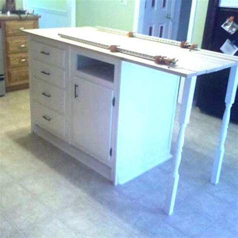 base cabinets repurposed to kitchen island hometalk