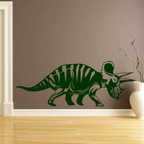 large dinosaur wall stickers triceratops dinosaurs wall sticker wall decal transfers ebay