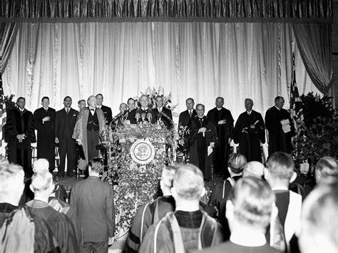 winston churchill s iron curtain speech in 1946 winston churchill gave a speech at a tiny
