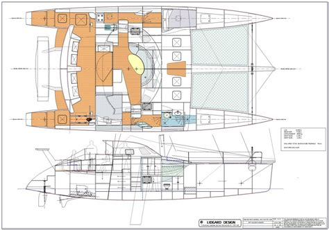 catamaran study plans lidgard yacht design 50 ft catamaran multihull study plan