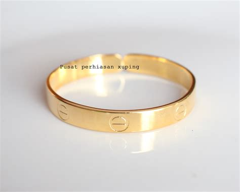 Gelang Cartier jual gelang bangle cartier gold lapis emas pusat