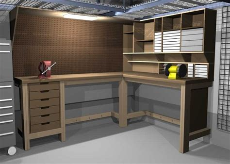 garage benches and storage l shaped storage bench plans woodworking projects plans