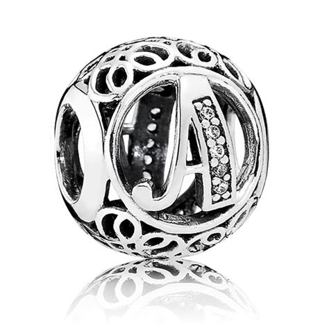 pandora vintage letter a charm 791845cz from gift and wrap uk