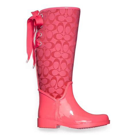 coach tristee boots coach tristee rainboot from coach epic wishlist