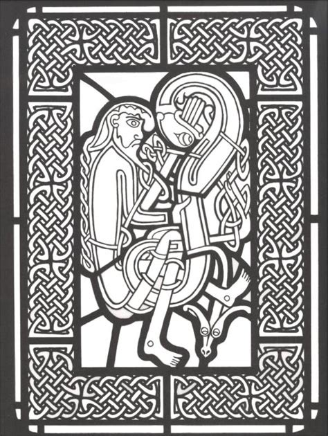 stained glass coloring book celtic stained glass coloring book 005887 details