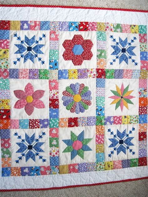 Patchwork Quilts For Babies - baby patchwork quilt retro baby quilt quilted wall hanging