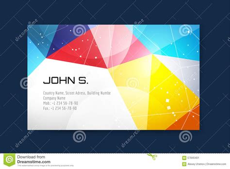 Magic Card Template Vector by Business Card Template Abstract Triangle Design Stock