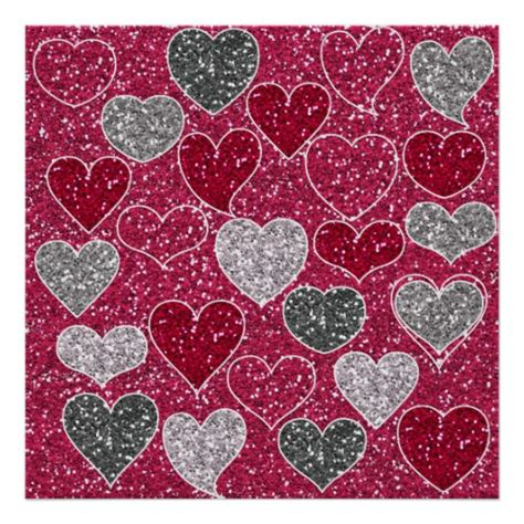 valentines day glitter images happy s day glitter bling hearts poster