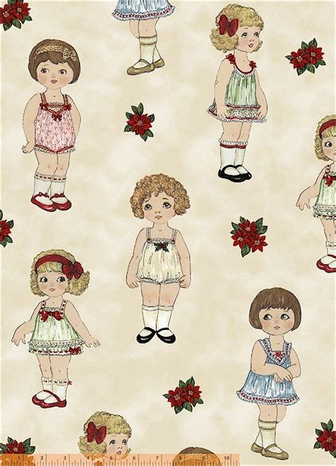 How To Make Fabric Paper Dolls - 30859 x paper doll by windham fabrics