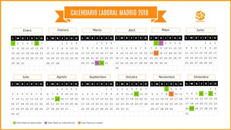 calendario 2018 calendario de espana del 2018 wikidates org calendario laboral madrid 2018 su 225 rez y rodr 237 guez asesores