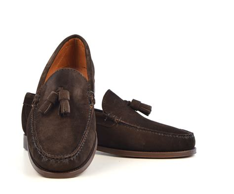 tassel loafers brown tassel loafers in brown suede the mod shoes