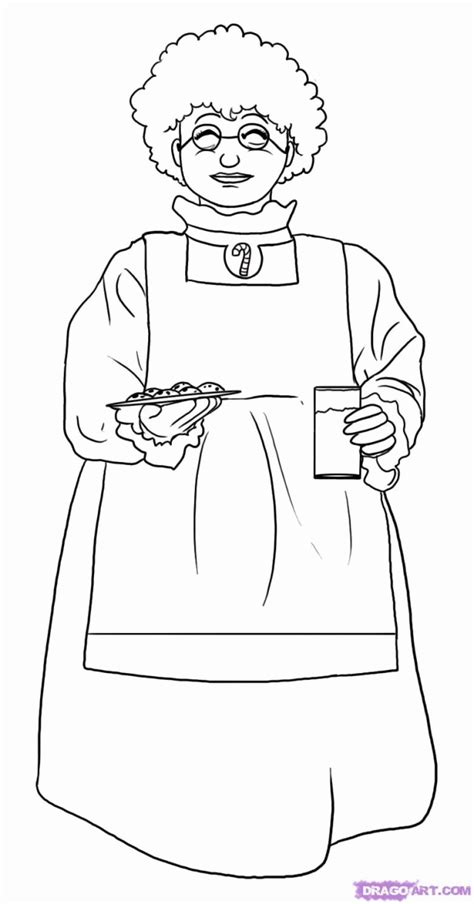 mrs claus coloring page coloring home