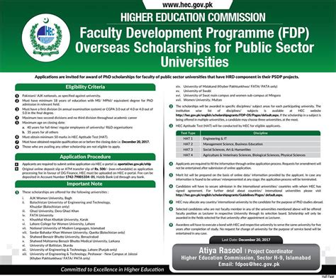 Hec Mba Scholarship For Excellence by Overseas Phd Scholarships For Selected Universities 2017