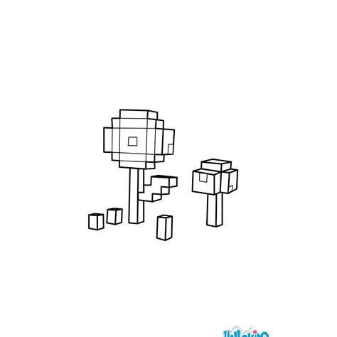 minecraft printable flowers minecraft coloring pages flowers