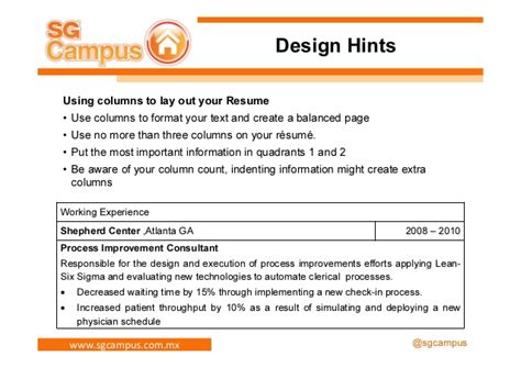 Hints For Resumes by Resume Hints Resume Ideas