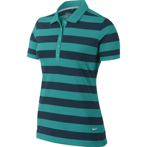 nike womens dri fit bold stripe golf polo shirts