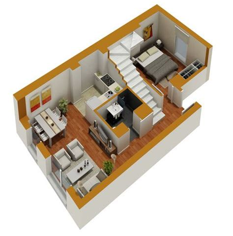 3d home floor plan tiny house floor plans small residential unit 3d floor