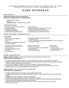 advertising resume exle sle marketing resumes