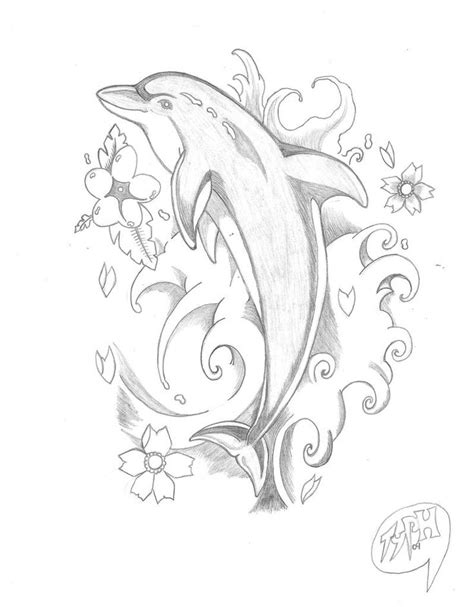 dolphin with rose tattoo best 25 dolphins ideas that you will like on
