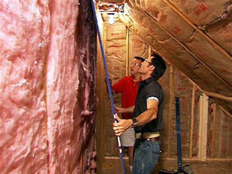 finish attic walls  ceilings  tos diy
