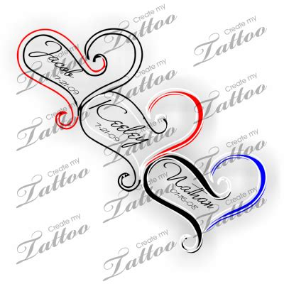 leg tattoo png tattoo with children s names names 31373