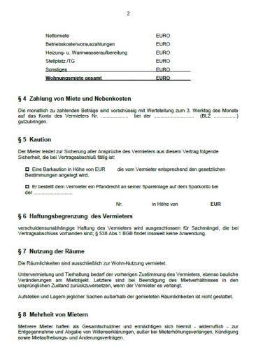 Kostenlose Vorlage Mietvertrag Wohnung Word Vorlage Mietvertrag Wohnung Shareware De