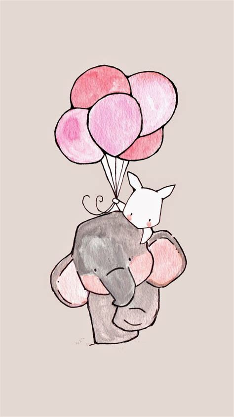wallpaper iphone 6 elephant background balloons cute drawing elephant iphone