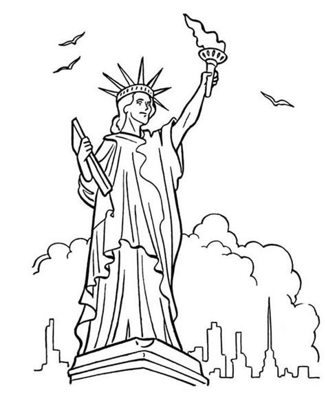 statue of liberty coloring page great bluebonkers armed forces day in statue of liberty
