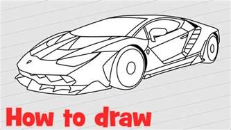 Steps To Draw A Lamborghini How To Draw A Car Lamborghini Centenario Step By Step