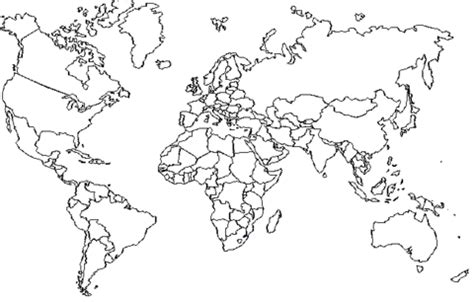 Coloring Page World Map by World Map With Boundaries Coloring Page Supercoloring