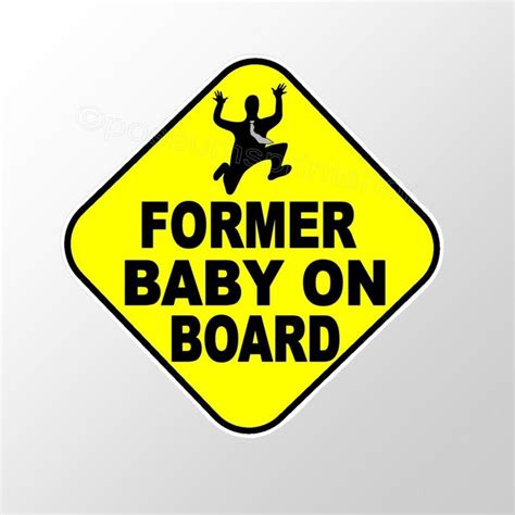 Stiker Cutting Baby On Board car bumper sticker former baby on board 90 mm yellow die cut vinyl decal bumper sticker