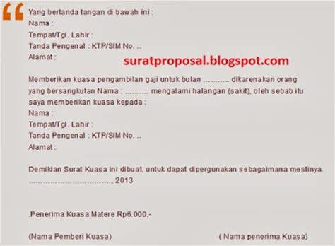 contoh surat kuasa pengambilan gaji contoh surat untuk lamaran