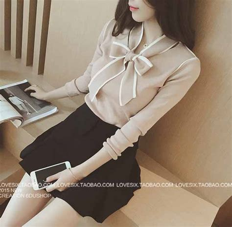 Pita Blouse blouse pita lengan panjang simple 2016 model terbaru