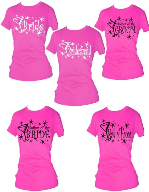 pattern shirt to wedding set of 16 bridal party t shirts bachelor and bachelorette
