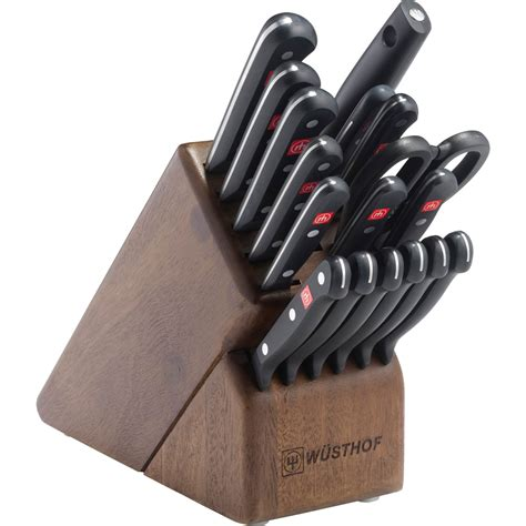 Promo Play Go My Kitchen Set Wusthof Gourmet 18 Pc Walnut Promo Knife Block Set