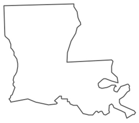 Louisiana Boot Outline by Geo Map Usa Louisiana