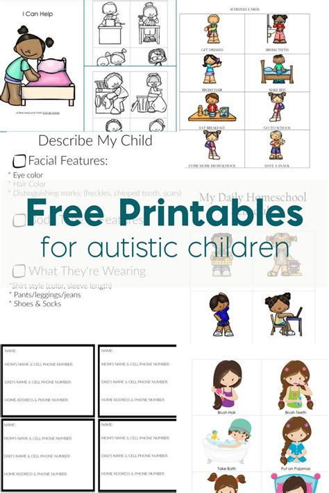 printable daily schedule for autistic child free printables for autistic children and their families