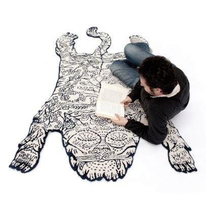 tappeto tigre tappeto rotondo grigio scuro grigio scuro pilepoil design