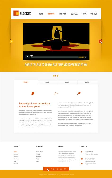 html5 templates for business applications blocked business html5 css3 template by anps themeforest