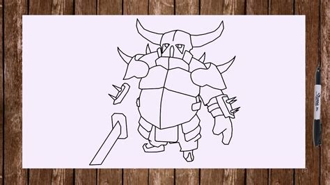 Kaos Karakter Pekka 2 how to draw pekka from clash of clans characters coc troops