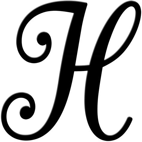 Cursive H - Dr. Odd H Alphabet Designs