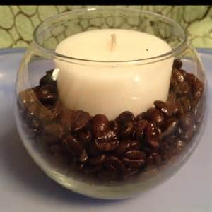 coffee bean candle holder easier