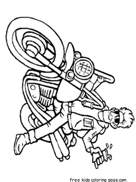 boy  motorcycle coloring page  kidsfree printable