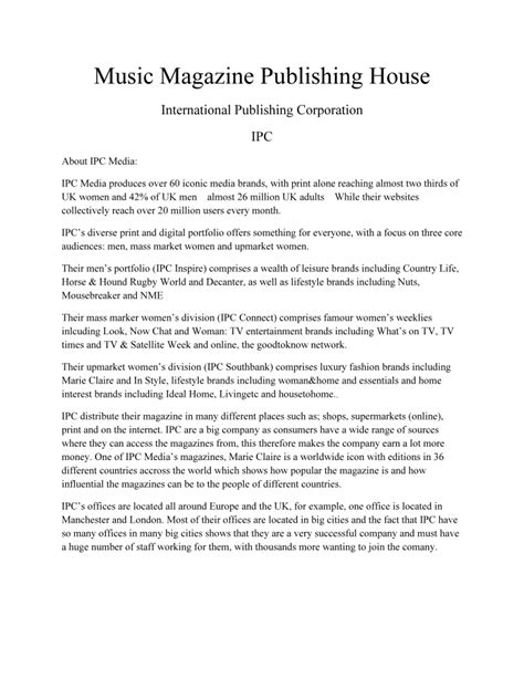 music publishing houses music magazine publishing house