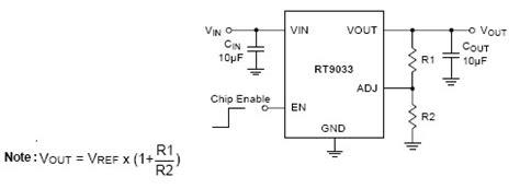 an output capacitorless low dropout regulator with direct voltage spike detection rt9033 3a adjustable output voltage ldo regulator richtek technology